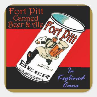 Adesivo Quadrado Cerveja de Pitt do forte
