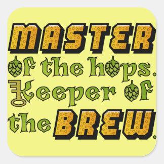 Adesivo Quadrado Cervejeiro da cerveja da fermentação home