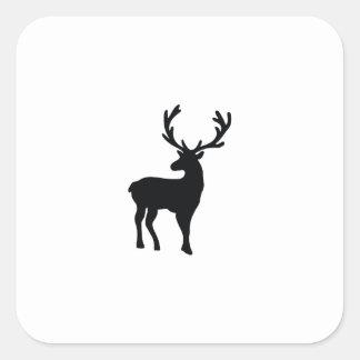 Adesivo Quadrado Cervos preto e branco