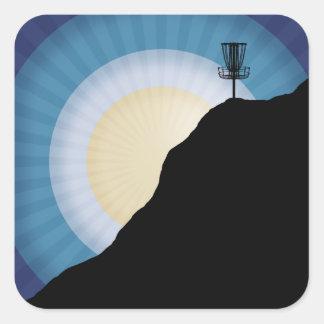 Adesivo Quadrado Cesta em uma montanha