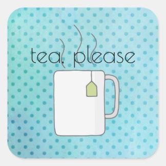 Adesivo Quadrado Chá de Aquadot por favor