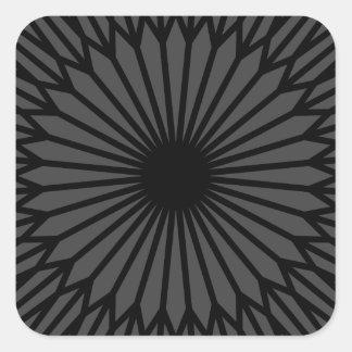 Adesivo Quadrado Chakra escuro