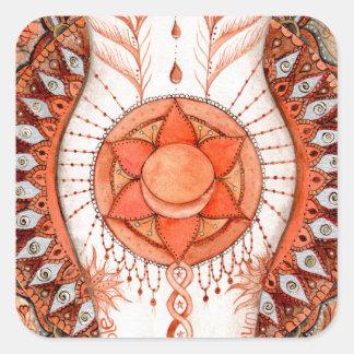 Adesivo Quadrado Chakra sacral