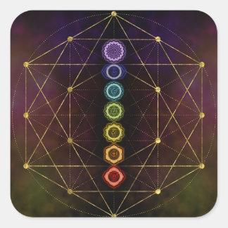 Adesivo Quadrado Chakras de incandescência colorido