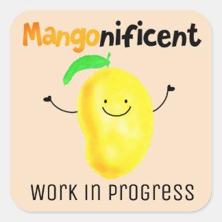 Adesivo Quadrado Chalaça positiva da manga - diária é Mangonificent