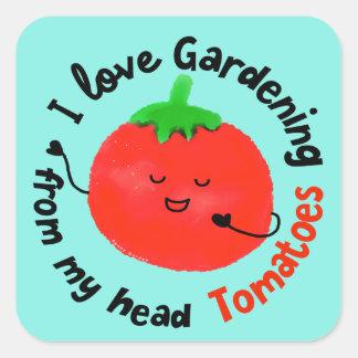 Adesivo Quadrado Chalaça positiva do tomate - de meus tomates
