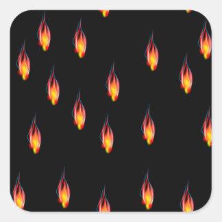 Adesivo Quadrado Chamas do fogo