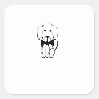 Adesivo Quadrado Charlie o dachshund