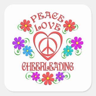 Adesivo Quadrado Cheerleading do amor da paz