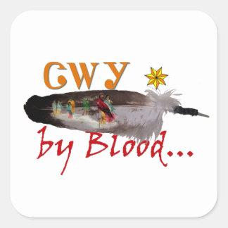Adesivo Quadrado Cherokee pelo sangue