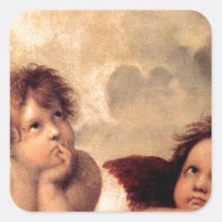 Adesivo Quadrado Cherubim - Raphael