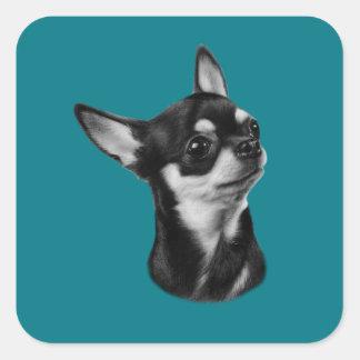 Adesivo Quadrado Chihuahua