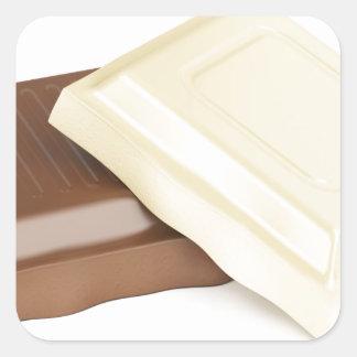 Adesivo Quadrado Chocolate branco e marrom