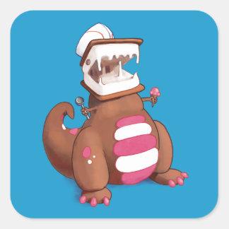 Adesivo Quadrado Chocolatey-Rex