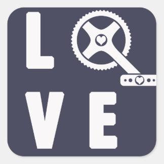 Adesivo Quadrado Ciclismo do amor