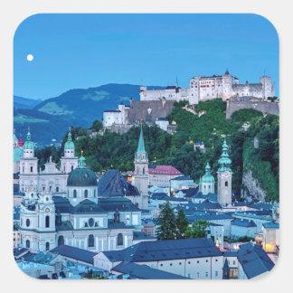 Adesivo Quadrado Cidade de Salzburg, Áustria