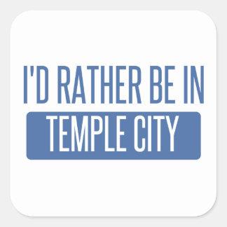 Adesivo Quadrado Cidade do templo