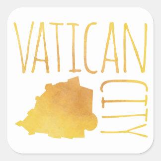 Adesivo Quadrado Cidade do Vaticano