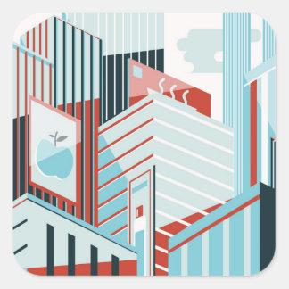 Adesivo Quadrado Cidade moderna