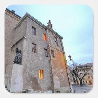 Adesivo Quadrado Cidade velha de Genebra
