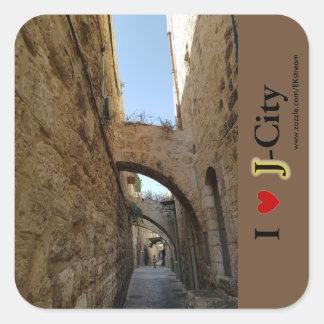 Adesivo Quadrado cidade velha de JERUSALEM
