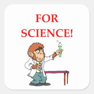 Adesivo Quadrado cientista louco