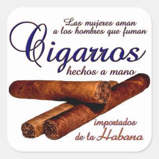 Adesivo Quadrado Cigarros - Cirars