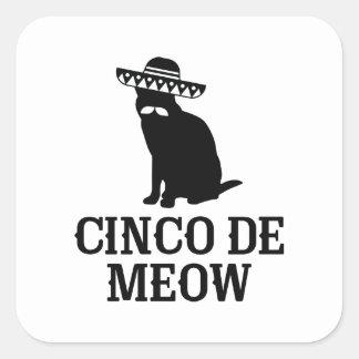Adesivo Quadrado Cinco De Meow