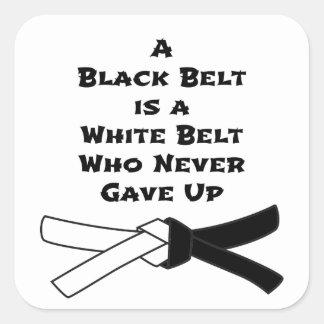 Adesivo Quadrado Cinturão negro
