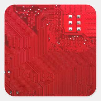 Adesivo Quadrado circuito eletrônico vermelho board.JPG