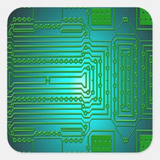 Adesivo Quadrado circuitos dos condutores do conselho