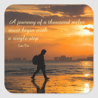 Adesivo Quadrado Citações clássicas da viagem de Tzu do Lao