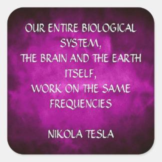 Adesivo Quadrado Citações de Nikola Tesla - as mesmas freqüências