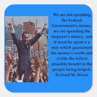 Adesivo Quadrado Citações de Richard Nixon
