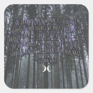 Adesivo Quadrado Citações de Witchy por Segovia Amil