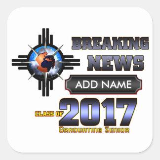 Adesivo Quadrado Classe das notícias de última hora de 2017