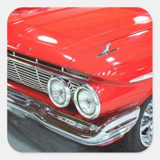 Adesivo Quadrado Clássico Chevrolet Impala 1961