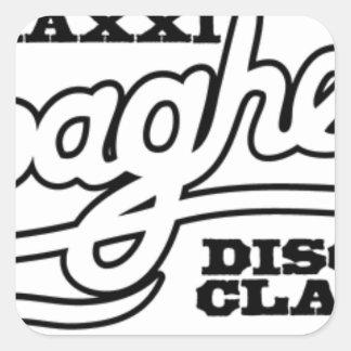 ADESIVO QUADRADO CLÁSSICOS DO DISCO DOS ESPAGUETES DO DJ MAXXI
