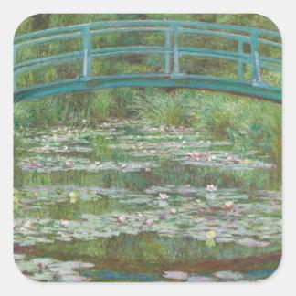 Adesivo Quadrado Claude Monet | o passadiço japonês, 1899