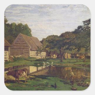Adesivo Quadrado Claude Monet | um pátio em Normandy