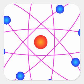 Adesivo Quadrado clipart modelo do vetor do átomo