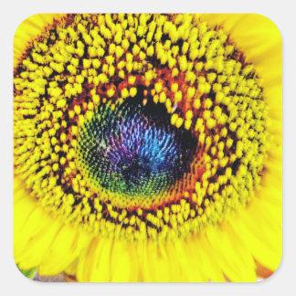 Adesivo Quadrado Close up amarelo