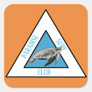 Adesivo Quadrado Clube do surf do paraíso