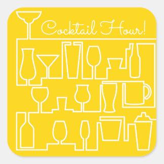 Adesivo Quadrado Cocktail amarelo