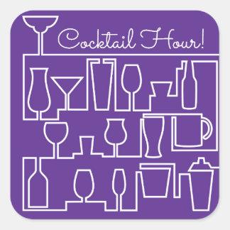 Adesivo Quadrado Cocktail roxo