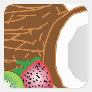 Adesivo Quadrado Cocos tropicais do quivi