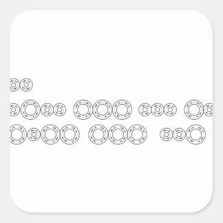 """Adesivo Quadrado Código Morse """"eu te amo """""""