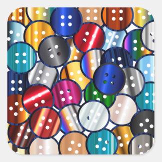 Adesivo Quadrado Coleção do botão da cor