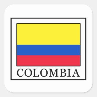 Adesivo Quadrado Colômbia