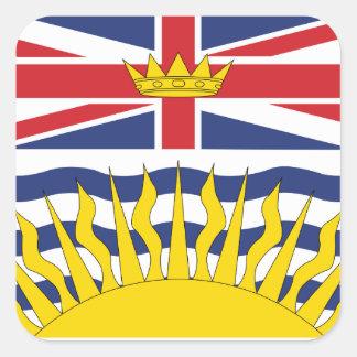 Adesivo Quadrado Columbia Britânica